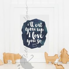 Nursery Decor  Where the Wild things are Nursery I'll Eat You Up I Love You So  by LittleRainyLane
