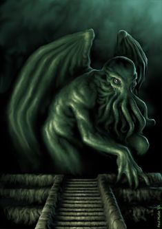 Cthulhu Rising by pmoodie.deviantart.com on @DeviantArt Cthulhu Art, Lovecraft Cthulhu, Hp Lovecraft, Call Of Cthulhu, The Crow, Yog Sothoth, Eldritch Horror, Pulp, Weird Stories