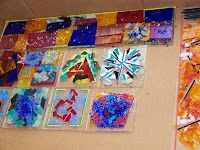 Beverly Cleary School Class ART Projects Auction 2009  (Fused Glass)