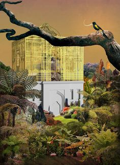 Treasure-Island by Skye Yuxi Sun RCA, conceptual architecture project (exterior abstract visualisation) Conceptual Architecture, Architecture Collage, Architecture Visualization, Architecture Graphics, Architecture Drawings, Landscape Architecture, Pablo Picasso, Collages, Photocollage