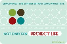 This blog post has a bunch of products that could be used for project life + tons of inspiration for using the supplies in a creative way!