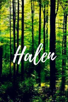 Halen. Swedish baby boy name meaning Hall