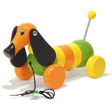 Roxy the Sausage Dog pull toy