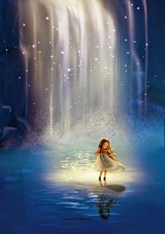 15 Ideas For Art Surrealista Musica Violin Art, Hope Art, Anime Art Girl, Whimsical Art, Cute Illustration, Cute Drawings, Fantasy Art, Night, Music Painting