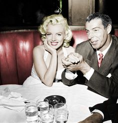 Photo Uploaded on 09/24/2012 Colored by Jake. Marilyn Monroe and Joe DiMaggio