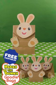 A great addition to your baby or toddler's birthday party! Create your very own Harry the Bunny goodie bags using our free printables! Diy Birthday Souvenirs, Diy Goodie Bags Birthday, Diy Party Bags, 2nd Birthday Party Themes, Birthday Party Decorations Diy, Bunny Birthday, Baby First Birthday, Harry The Bunny, Baby First Tv