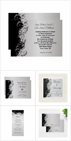 Silver and Black Ornate Wedding