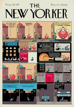 From Occasional Superheroine, another New Yorker cover by Chris Ware