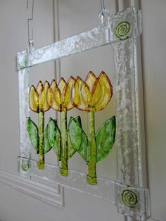 Fused Glass Art, handmade, large flower, unique gift for any occasion   eBay