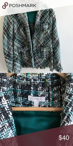Kookai tweed jacket This piece is so beautiful! Stylish and chic and great condition! Pair with black slacks for work or jeans for a night out. kookai Jackets & Coats Blazers