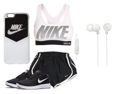 """""""Nike Workout"""" by calliefashion11 on Polyvore featuring NIKE and Sony"""