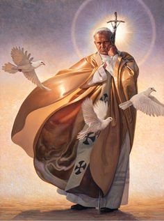 Among Thomas Blackshear's distinguished clients is the US Postal Service, for which he has illustrated many beautiful and iconic-themed postage stamps. Religion Catolica, Catholic Religion, Catholic Art, Catholic Saints, Religious Art, Thomas Blackshear, Papa Juan Pablo Ii, Catholic Pictures, Jesus Christ Images