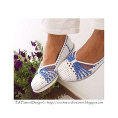 Blue Bow Espadrilles/TomS Basic Slipper by PdfPatternDesign
