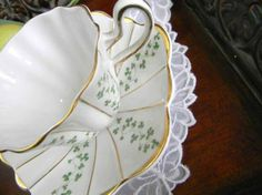 Royal Tara fine bone china ireland | Royal Tara Teacup Tea Cup and Saucer Fine Bone China Shamrock Wavy ...