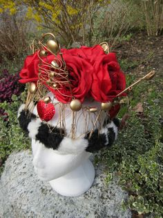 Upcycled Clothing Red Queen Crown Alice in by enduredesigns, $100.00