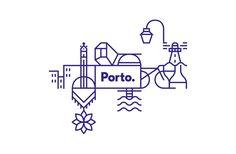 Logo recette a base de porto. white studio