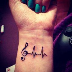 Music Heart Beat Tattoo On Wrist. music tattoo ideas Top Cute And Attractive Heartbeat Tattoo Designs Small Music Tattoos, Music Tattoo Designs, Tattoo Designs Wrist, Small Tattoo Designs, Tattoo Designs For Women, Tattoos For Women, Music Tattoos On Wrist, Mini Tattoos, Trendy Tattoos