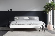 Bed Frame type 2 lacquered by April and May for Loof made in Netherlands on CROWDYHOUSE #interior #minimal #bedroom