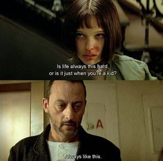 leon, life, and hard image Sky Quotes, Film Quotes, Mood Quotes, Random Quotes, How To Express Feelings, Feelings And Emotions, The Professional Movie, Mathilda Lando, Unforgettable Quotes