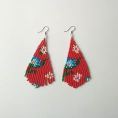 I've decided to separate earrings from nepinka art jewelry. So new shop has been opened on Etsy. Boosiko.etsy.com FREE SHIPPING #beadedearrings #beadwork #etsy #etsyartist #earrings #red #wearableart #artjewelry #longearrings #tasselsearrings #tassel #weaving #fringe #fringeearrings #boho #bohemian #abstract #floral #fashion #jewelrydesign #seedbeads #jenfiledesperlesetjassume #modern #giftforher #lifestyle