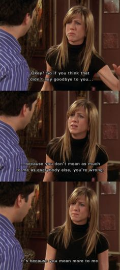 My favorite Rachel Green/Jennifer Aniston moment in all ten years, She killed it. Rachel and Ross. The Last One. Serie Friends, Friends Moments, Friends Tv Show, Friends Forever, Friends In Love, Friends Season, Friends Ross And Rachel, Friends Cast, Funny Moments