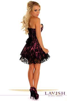 fc41900863 Lavish Pink Lace Corset Dress. Online Clothing StoresWomens Clothing StoresClothes  For WomenLace CorsetBlack LacesPlus Size ...