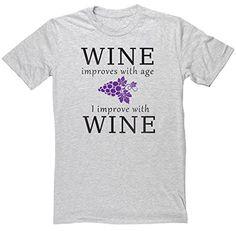 HippoWarehouse Wine improves with age I improve with wine unisex short sleeve t-shirt HippoWarehouse http://www.amazon.co.uk/dp/B010FZQUFS/ref=cm_sw_r_pi_dp_3YU7vb12S0T24