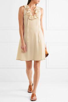 See by Chloé - Ruffled Crepe Dress - Cream - FR38