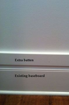 Board and Batten - how to tie in with existing baseboard, by Krista-Artista