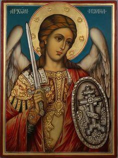 Religious Images, Religious Icons, Religious Art, Christian Artwork, Christian Images, Byzantine Icons, Byzantine Art, Archangel Raphael, Raphael Angel