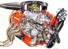 GM 427 Mystery engine cutaway