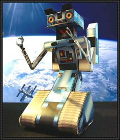 Short Circuit - Johnny Five Robot Paper Model Free Download - http://www.papercraftsquare.com/short-circuit-johnny-five-robot-paper-model-free-download.html