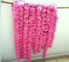 5 light pink marigold flower string party backdrop, ready to ship artificial flower garland, photo prop, Indian wedding decorations by craftcoloursindia on Etsy https://www.etsy.com/listing/593251106/5-light-pink-marigold-flower-string