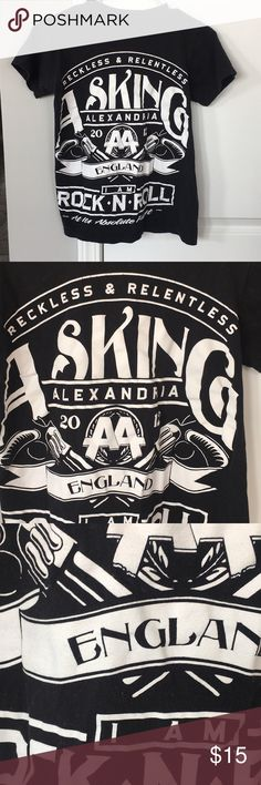 Asking Alexandria band tee Used to be my favorite shirt, but my style has slightly changed. Love it still, but don't wear. Super rare tee - I've not seen anyone else with it! Tops Tees - Short Sleeve
