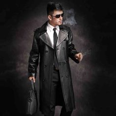 2015 New Real sheep skin Extra long section Suit collar Men's leather coats Overcoat Coat JSH425