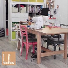 Bulbo: De bajas y de re... Dining Table, Furniture, Home Decor, Sewing Lessons, Tents, House Decorations, Decoration Home, Room Decor, Dinner Table