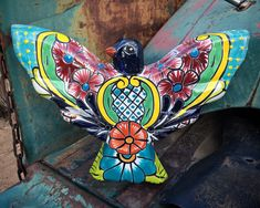Talavera Thunderbird Wall Hanging Southwestern Mexican Decor, Patio Gate Decoration, Bird Gift Gate Decoration, 90 Day Plan, Talavera Pottery, North Africa, How To Find Out, Etsy Seller, Mexican, Hacienda Style, Secret Gardens