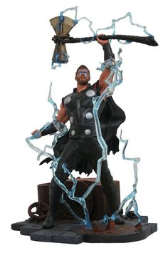 Buy Thor - Collectors Statue at Mighty Ape NZ. Marvel Gallery: Thor (Infinity War) – Collectors Statue The Marvel Gallery Avengers: Infinity War Thor Statue features detailed sculpting and coll. Ms Marvel, Marvel Comics, Marvel Avengers, Captain Marvel, Mundo Marvel, Captain America, Character Drawing, Comic Character, Anime Figures