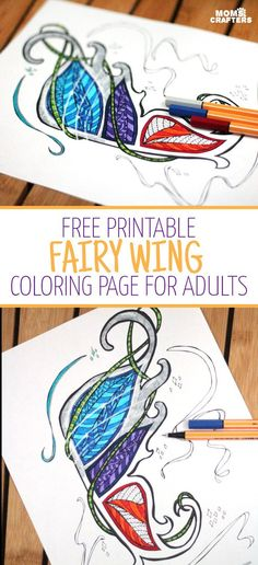 Grab This Fairy Wing Coloring Page For Adults