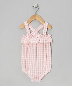 Take a look at this Light Pink & White Sophie Bubble Sunsuit - Infant by Smockadot Kids on #zulily today!