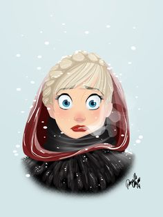 Elsa #Frozen #snow #neve - Art by Pernille § Find more artworks: www.pinterest.com/aalishev