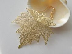 2 Pcs  Gold Plated Over Copper Laser Cut by JunesJewelrySupplies