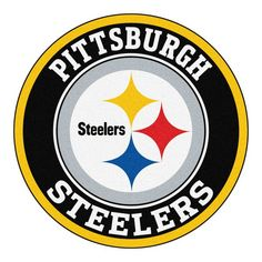 NFL - Pittsburgh Steelers Roundel Mat diameter Size: diameter Looking for a unique rug to decorate your home or office with? Roundel Mats by Sports Lice Pittsburgh Steelers Wallpaper, Pittsburgh Steelers Football, Pittsburgh Sports, Dallas Cowboys, Alabama Football, Nfl Patriots, Pittsburgh Penguins, England Patriots, Steelers Team