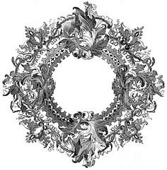 Printable Image - Ornate Round Frame and Queen Victoria - The Graphics Fairy