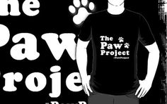 Do you like your cat's paws with claws? Then show your support and wear The Paw Project logo with pride! Available in: Black, Grey, Dark Grey, Blue, Dark Blue, Red, Dark Red, Orange, Purple, Dark Green, Army and Brown
