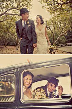 Vintage inspired wedding Nestldown Retreat - Santa Cruz Mountains, CA - photos by: Paco and Betty