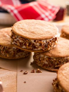 Salted Caramel Snickerdoodle Ice Cream Sandwiches recipe from Food Network Specials via Food Network