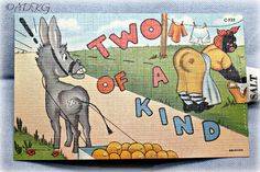"Vintage Black Americana Postcard ""Two Of A Kind"""