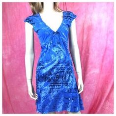 Anama $25 Dresses & Skirts - ANAMA Blue Short Sleeve 100 % Cotton Dress  Medium #dress #poshmarkcloset #poshmark #forsale #shopping #shop