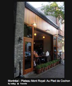 Au Pied de Cochon, Montreal, Quebec Trips, Restaurants, Canada, Spaces, Eat, Outdoor Decor, Travel, Food, Home Decor